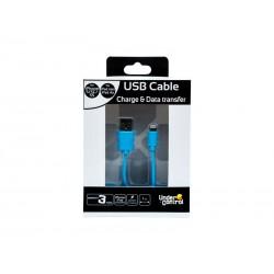 Cable iPhone 5 UnderControl Bleu 1m