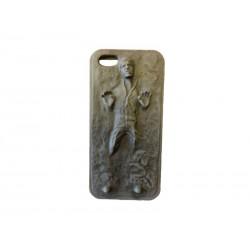 Coque de protection compatible avec iPhone 5/5S Silicone Han Solo Carbonite