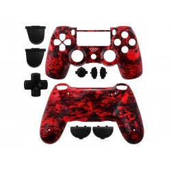 Coque Manette Playstation 4 - Skull Red