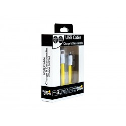 Cable Plat USB iPhone 5 Jaune