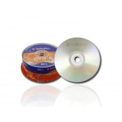 25 DVD-R Verbatim 16X