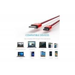 Cable USB Type C Bleu 1M