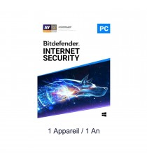Bitdefender INTERNET SECURITY 2019 - 1 Poste / 1 an