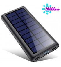 Batterie Externe Solaire 26800mAh 2 Ports USB