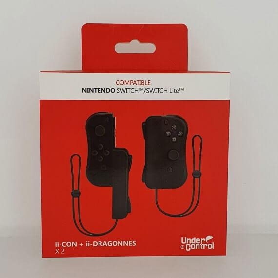 Manette ii-con Noire avec Dragonnes Compatible Switch