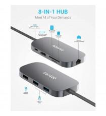 Adaptateur USB C Hub Multiport 8-en-1