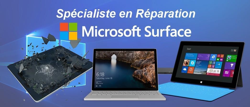 Réparation Microsoft Surface toutes versions