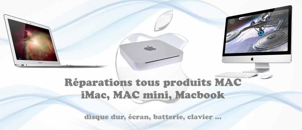 Réparation MacBoook, Dépannage iMac